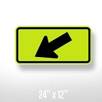 Diagonal Arrow Plaque