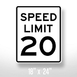 Speed Limit Sign - 18