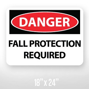 Danger Fall Protection Sign