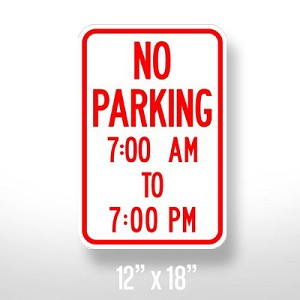 No Parking With Time Limits Sign