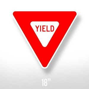 Yield Sign - 18""